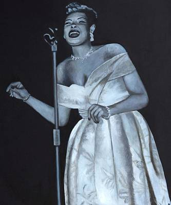 Painting - Billie Holiday by Patrick Kelly