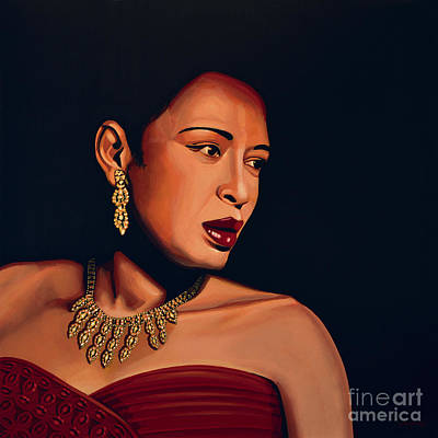 Jazz Legends Wall Art - Painting - Billie Holiday by Paul Meijering