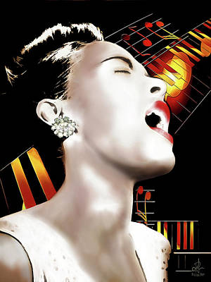 Digital Art - Billie Holiday by Pennie McCracken