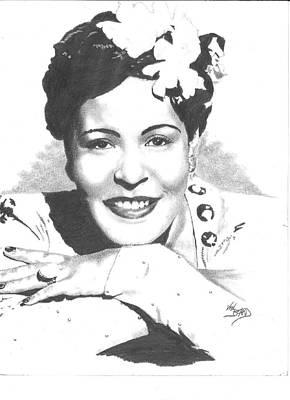 Billie Holiday Art Print by Van Beard