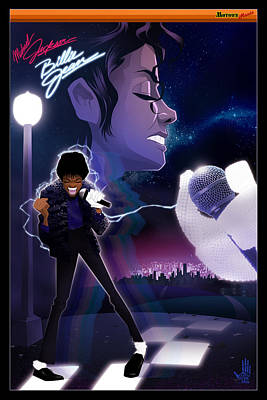 Jackson Drawing - Billie Jean 2 by Nelson dedos Garcia