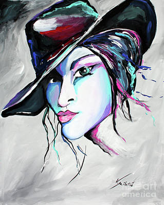 Portrait Painting - Billie Jean - Cowgirl Art By Valentina Miletic by Valentina Miletic