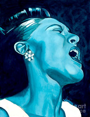 Billie Holiday Painting - Billie by Nick Wightman