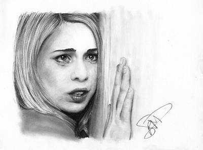 Doctor Who Drawing - Billie Piper by Rosalinda Markle