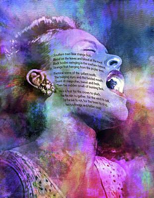 Songstress Digital Art - Billie's Blues by Mal Bray
