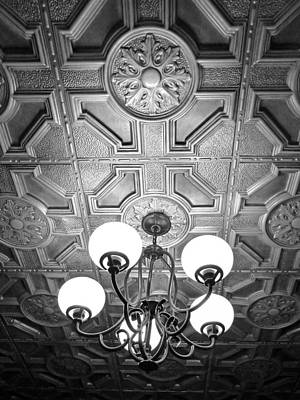 Photograph - Billings Mt Old Office Ceiling 3 by Jeff Brunton