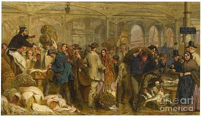 Rhythm And Blues Painting - Billingsgate Fish Market by MotionAge Designs