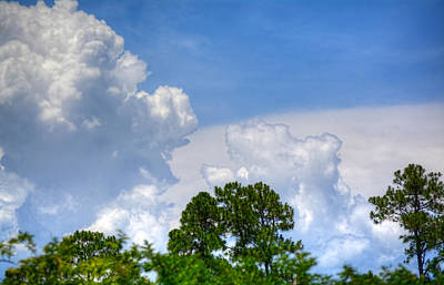 Photograph - Billowing Clouds 1 by Cathy Jourdan