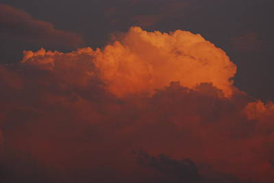 Photograph - Billowing Clouds Sunset by Wanda Jesfield