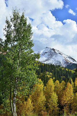 Photograph - Billowing Clouds Over Red Mountain In Fall by Ray Mathis