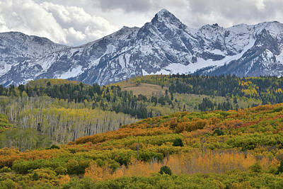 Photograph - Billowing Fall Clouds Over Sneffels Range by Ray Mathis