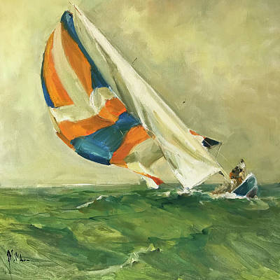 Wall Art - Painting - Billowing Sails by Kathryn McMahon