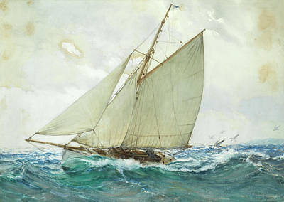 Sphere Painting - Billowing Waves by Montague Dawson