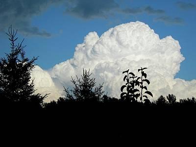 Billowy Storm Clouds Art Print