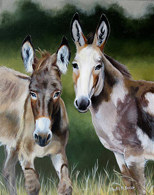 Painting - Bill's Donkeys by Phyllis Beiser