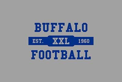 Buffalo Bills Wall Art - Photograph - Bills Retro Shirt by Joe Hamilton