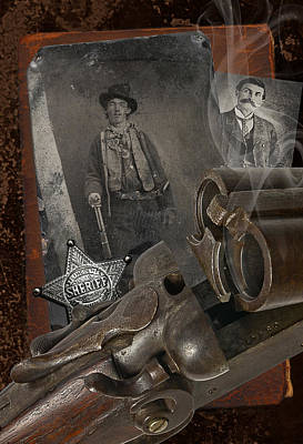 Old West Photograph - Billy And Pat by Robert Hudnall