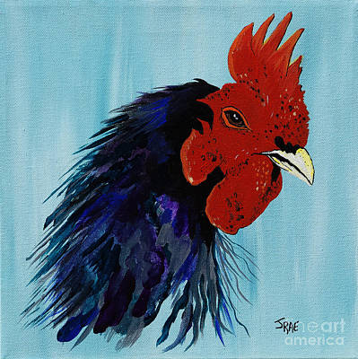 Art Print featuring the painting Billy Boy The Rooster by Janice Rae Pariza