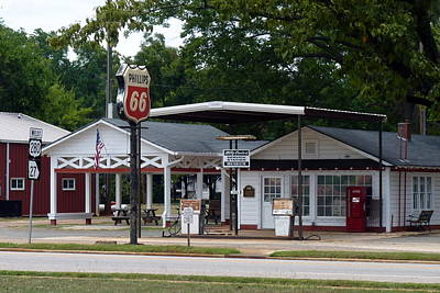 Photograph - Billy Carter's Service Station by Carla Parris