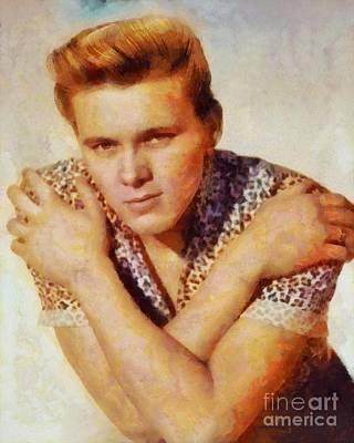 Rock And Roll Royalty-Free and Rights-Managed Images - Billy Fury, Music Legend by Sarah Kirk