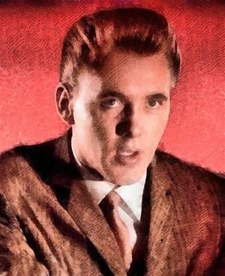 Elvis Presley Painting - Billy Fury, Singer by John Springfield