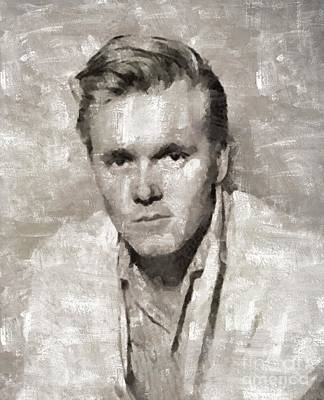 Elvis Presley Painting - Billy Fury, Singer by Mary Bassett