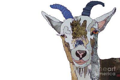 Digital Art - Billy Goat by Catherine Kleeli