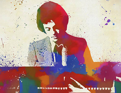 Painting - Billy Joel Piano Man by Dan Sproul