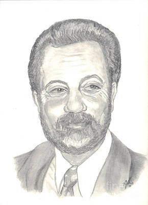 Billy Joel Portrait Art Print by Carol Wisniewski