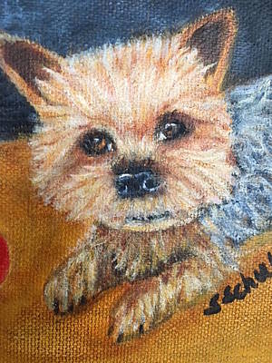 Art Print featuring the painting Billy by Sharon Schultz