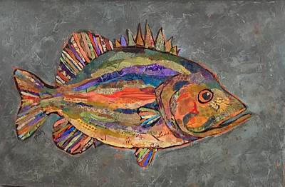 Painting - Billy The Bass by Phiddy Webb