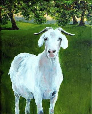 Painting - Billy The Goat by Cheryl Green
