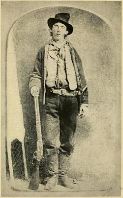 Weapons Photograph - Billy The Kid 1859-81, Killed Twenty by Everett