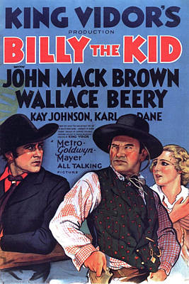 Mixed Media - Billy The Kid 1930 by Movie Poster Prints