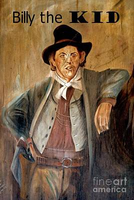 Mixed Media - Billy The Kid W Text by Bob Pardue