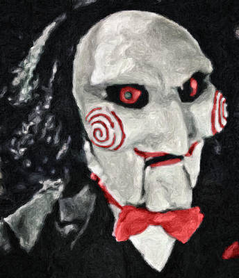 Horror Movies Painting - Billy The Puppet II by Taylan Apukovska