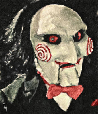 Movie Characters Painting - Billy The Puppet II by Taylan Apukovska