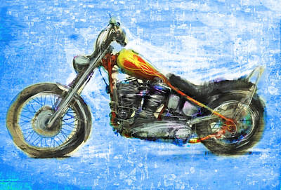 Cult Mixed Media - Billy's Bike by Russell Pierce