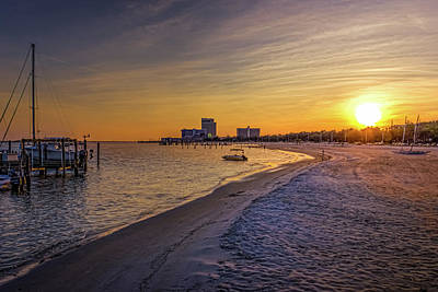 Photograph - Biloxi Beach Sunset by Barry Jones