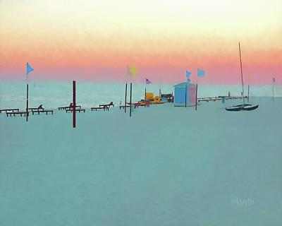 Digital Art - Biloxi Beach Sunset - Pastel In Paradise by Rebecca Korpita