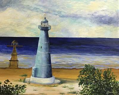 Painting - Biloxi Lighthouse by Jane Ricker