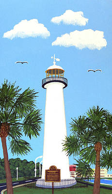 Painting - Biloxi Lighthouse Painting by Frederic Kohli