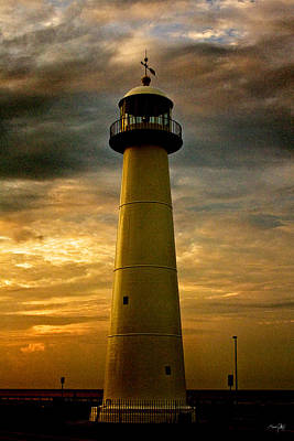 Gulf Coast Wall Art - Photograph - Biloxi Lighthouse - Sunrise by Scott Pellegrin