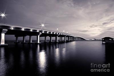 Biloxi Ocean Springs Bridge Photograph - Biloxi Moods by Joan McCool