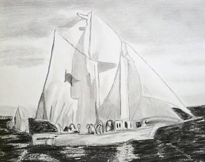 Drawing - Biloxi Schooner by Cathy Jourdan