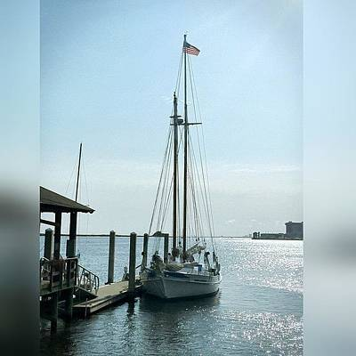 Artwork Wall Art - Photograph - Biloxi Schooner #enlight #biloxi by Joan McCool