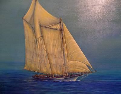 Biloxi Schooner Art Print by Xavier Maumus