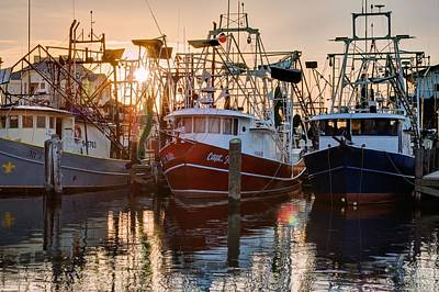 Photograph - Biloxi Shrimper Sunrise by JC Findley