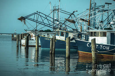 Biloxi Shrimpers Art Print by Ron Buskirk