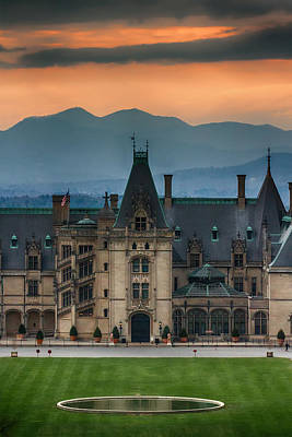 Photograph - Biltmore At Sunset by John Haldane
